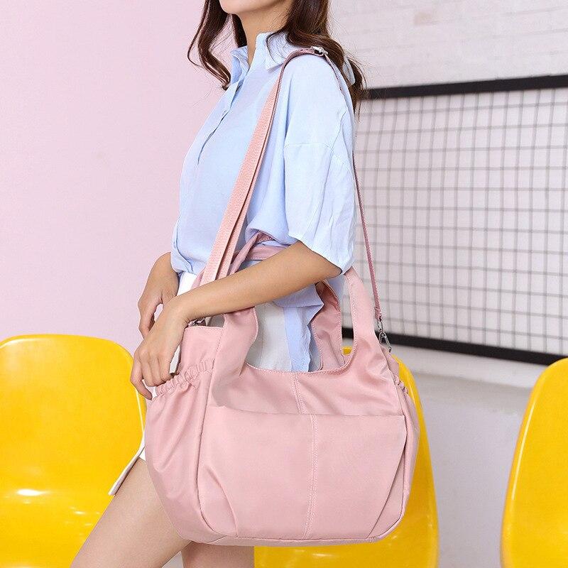 Shoulder Bag Brand Big Canvas Solid Zipper Clutch Purse Black Fashion Luxury Handbags Women Bags Designer Sac Main Femme in Shoulder Bags from Luggage Bags