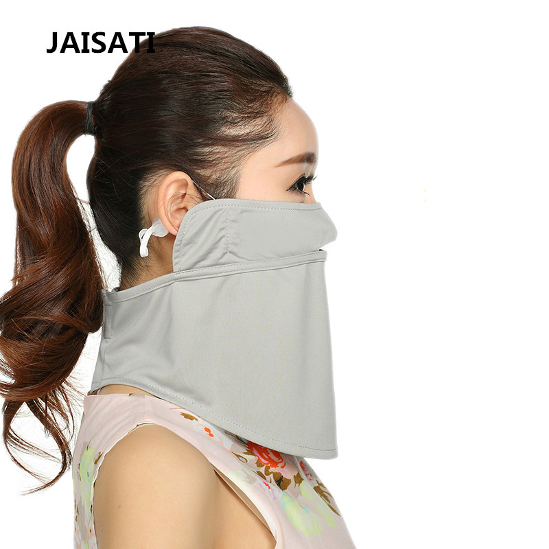 Summer UV protection ice silk neck mask Sun protection breathable dust riding mask summer dust proof sunscreen neck mask female outdoor riding mask