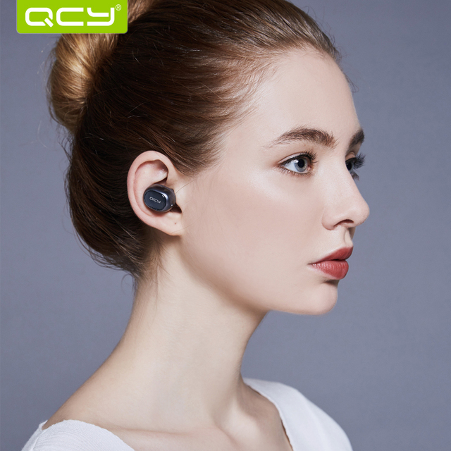 QCY Brand Q29 business earbuds bluetooth earphones wireless 3d headphones with microphone handsfree calls noise cancelling