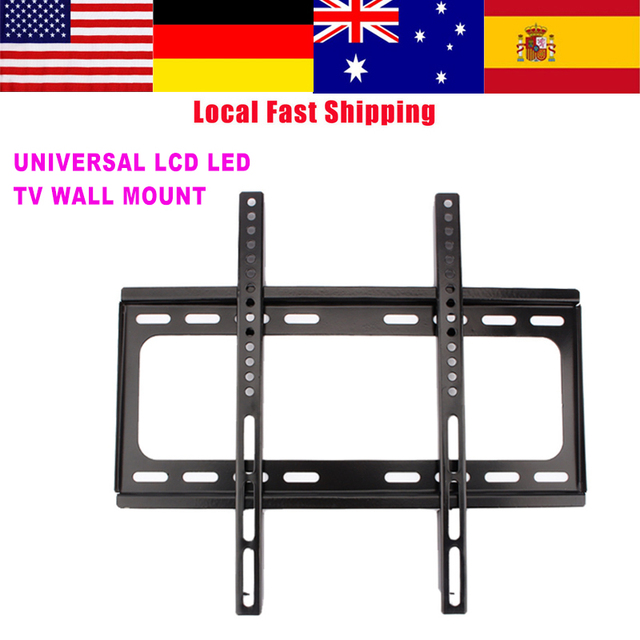 Universal Lcd Led Tv Wall Mount Bracket Fixed Flat Panel Tv Stand