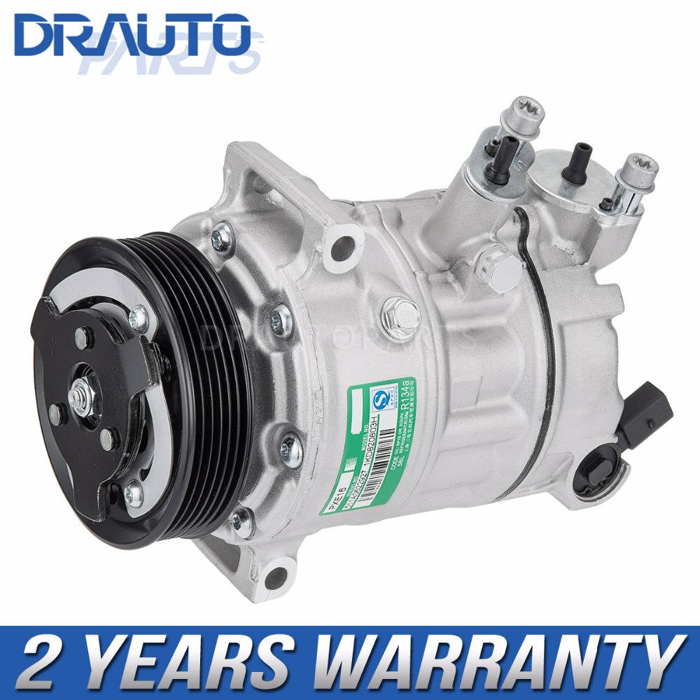 A/C Air Condition Compressor For VW Tiguan CC <font><b>Golf</b></font> <font><b>MK6</b></font> <font><b>TDI</b></font> Caddy OE#1KD 820 803H image