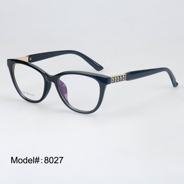 8027 wholesale high quality spectcles optical frames acetate myopia  eyeglasses eyewear