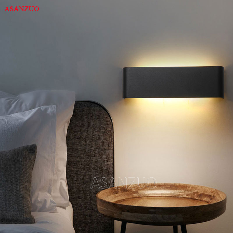 Rectangle Led Wall Lamp Bedside Sconces 4W8W14W18W Light lamp 110V 220V Living Room Bathroom Mirror Light Indoor Aisle 2