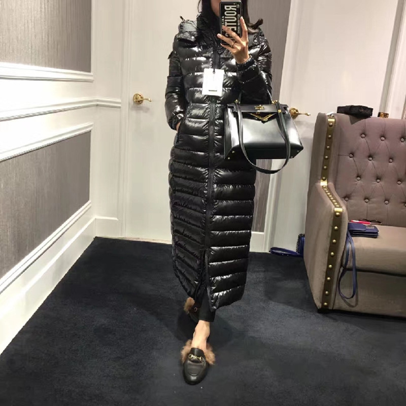 high quality 100% Women Down jacket 2019 Winter jacket womens down parka Coat Downs Jackets Long design Thicken Coats 90% Duck
