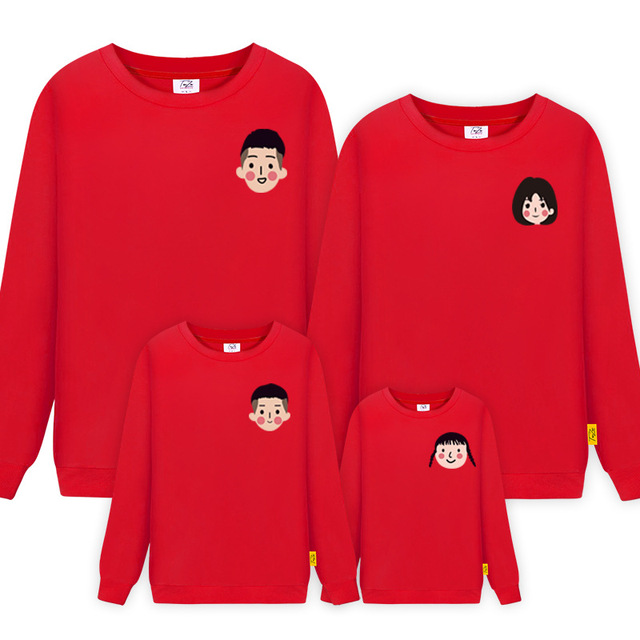 Mommy and Me Mother Daughter Women Kids Girls boy Sweatshirts Pullover Full Sleeve Cotton Christmas Sweaters for Children Boys