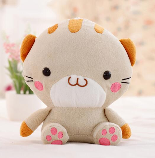 Игрушек! Супер милые плюшевые игрушки милая пара мини Кот с большой мордочкой котенок мягкая игрушка кукла День рождения Рождественский подарок 1 шт - Цвет: brown