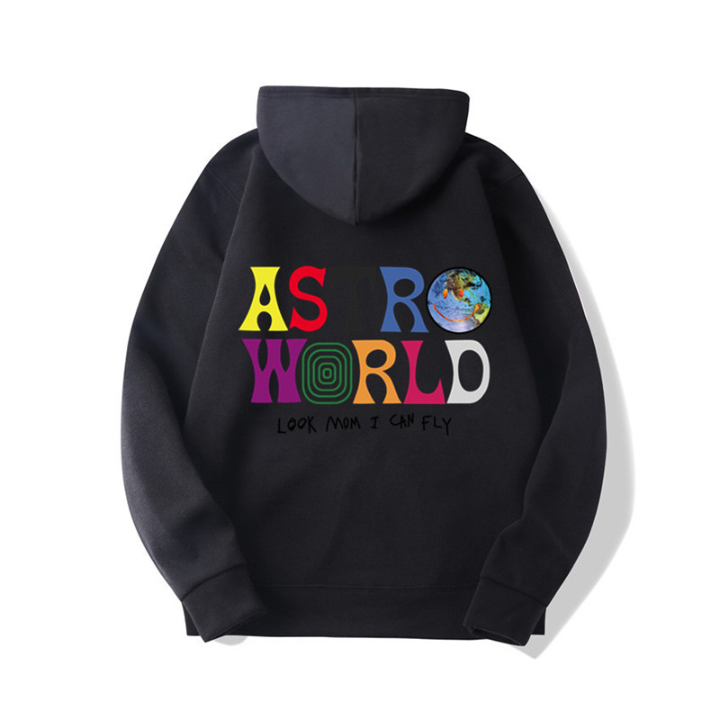 Fashion Brand 2019 New ASTROWORLD Hoodies Men/Women Sweatshirt Hip Hop Hooded Print ASTROWORLD Hoodies Male Pullover Sweatshirts