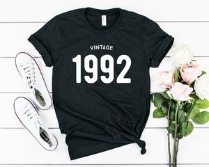 Skuggnas 1992 birthday shirt 27th birthday T-shirt 90s aesthetic t shirts Aesthetic Clothing Casual Tops Hipster 90'S Clothing