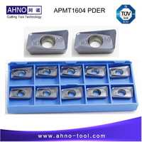 50pcs/lot AHNO APMT1604 PDER M2 Solide Carbide Milling Inserts or cnc Cutting Mill Tools for Face Mill BAP 400R and RAP75