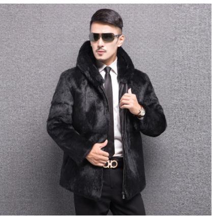 Visone black Maschio Hood Collar Il Nero 6xl Tempo Plus Faux Inverno  Cappotti S Outwears Casual Vestiti Libero Finta Big Pelliccia Autunno Di ... bf2f452ceef