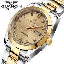 Top Brand GUANQIN Hombres Reloj Mecánico Impermeable Reloj Luminoso Hombres De Lujo Hombre Reloj de Zafiro Relojes de Pulsera para Hombres Reloj de Acero