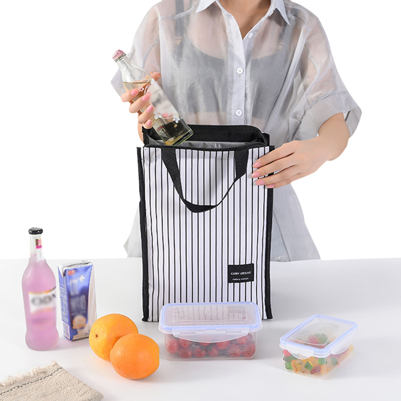 Portable Insulated Lunch Bag For Women Men Thermal Dinner Box Cooler Pouch School Bento Tote Travel Organizer Picnic Necessary