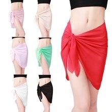 Summer Sexy Women Beach Wear Cover-ups Pareo Tunic Coqueta Swimwear Chiffon Cover up Beach Sarong Pareo Canga Swimsuit Wrap j2