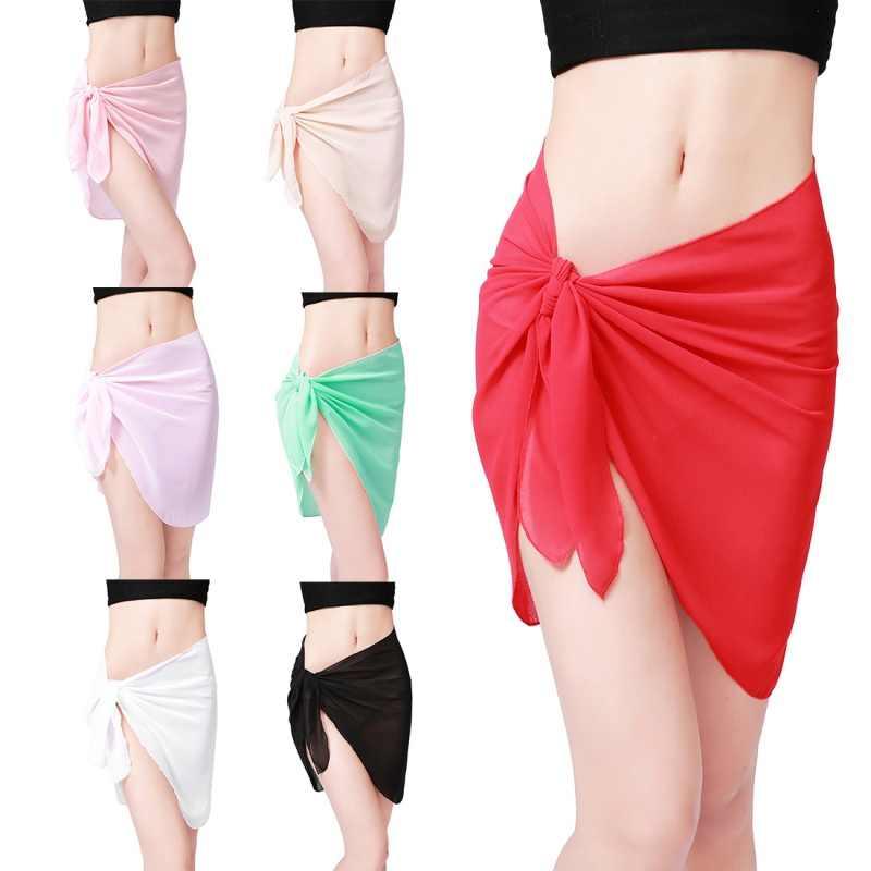 e4870c8ad87ea ... Summer Sexy Women Beach Wear Cover-ups Pareo Tunic Coqueta Swimwear  Chiffon Cover up Beach ...