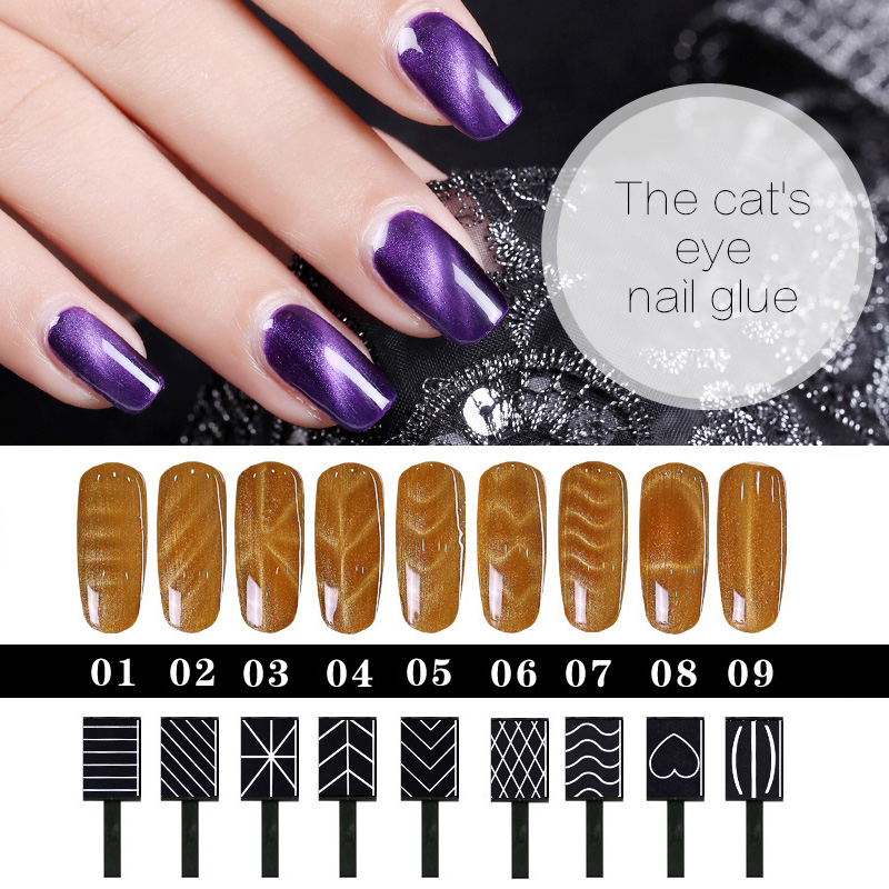 For Cat Eye Gel Polish Magnet Stick Sticks Manicure UV Nail Gel Polish Nail Art Magnet Sticker Nail Magnet For Nail Polish