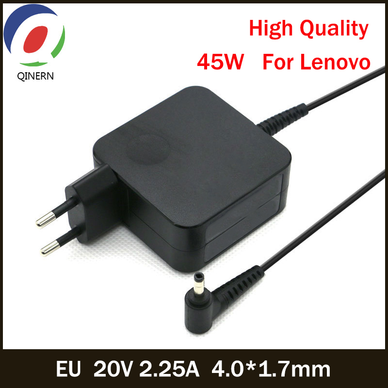 L'UE 20V 2.25A 45W 4.0*1.7MM Chargeur Adaptateur secteur Pour Lenovo YOGA 310 510 520 710 MIIX5 7000 Air 12 13 ideapad 320 100 110 N22 N42