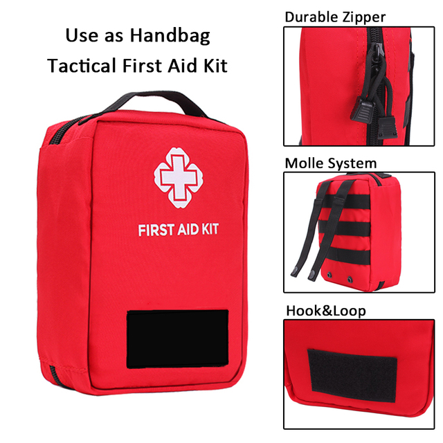 New Version First Aid Pouch Outdoor Survival Kit Medical Nylon Molle Bag Tactical Emergency Cover Hunting Travel Big Capacity 3