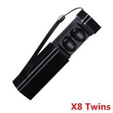 X8 X7 Dual Twins Mini hörlurar med laddare Väska Bluetooth V4.2 Headset Örhänge Sport Mikrofon Hörlurar För Iphone Xiaomi