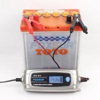 FOXSUR Automatic Smart 6V 12V Lead Acid/GEL AGM WET Car Battery Charger LCD Display US EU Plug Smart Fast Battery Charger