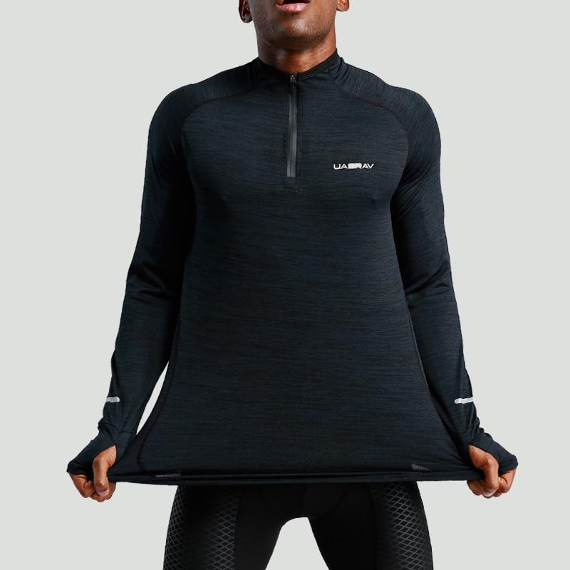 Hommes course T-shirts course chemise hommes T-shirt à manches longues Compression chemises Gym T-shirt Fitness Sport chemise Sport Jesery