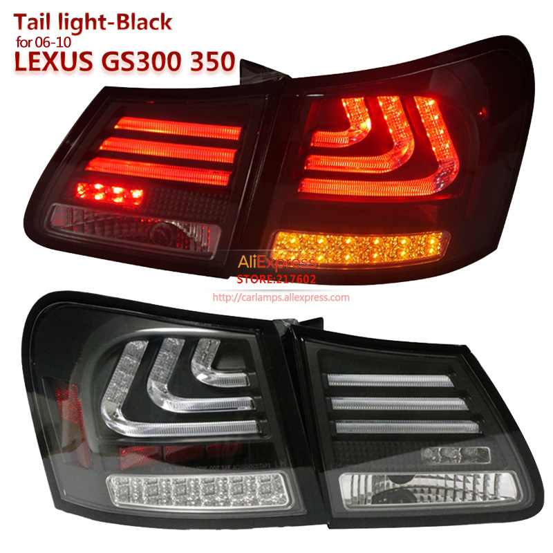 SONAR brand for <font><b>Lexus</b></font> <font><b>GS300</b></font> GS350 GS430 GS450 2006-2010 year LED <font><b>Tail</b></font> <font><b>lights</b></font> Assembly Black Housing Top Quality Easy Install image