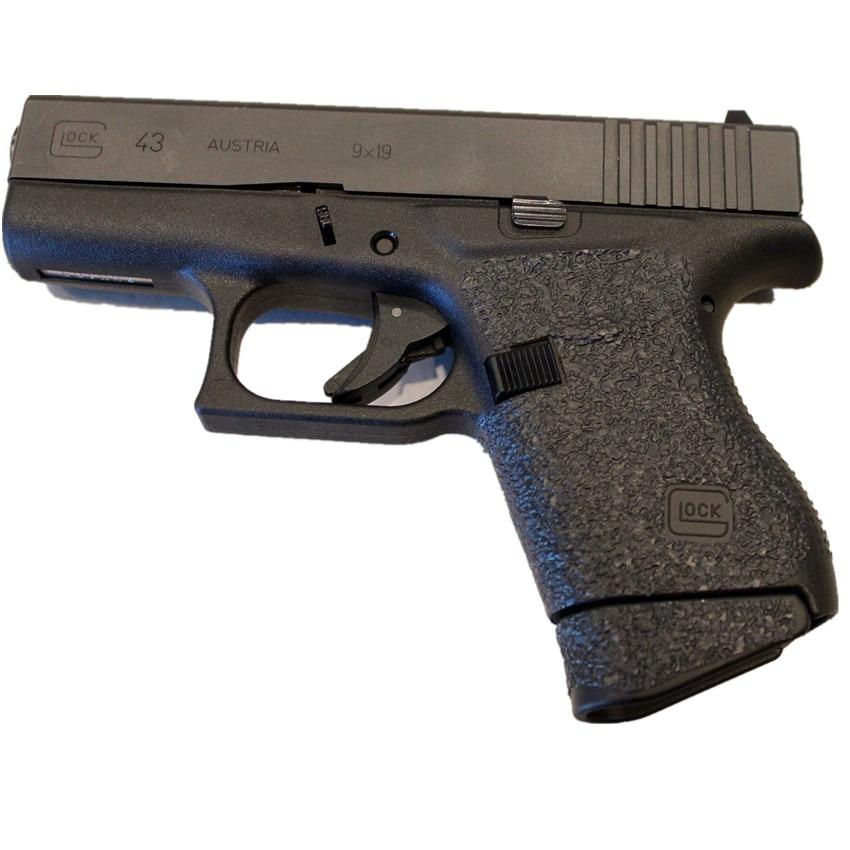 Non-slip Rubber Texture Grip Wrap Tape Glove Custom For Glock 43 holster fit for 9mm pistol gun magazine accessories dd type hard rubber pistol grip for m4 m16 black