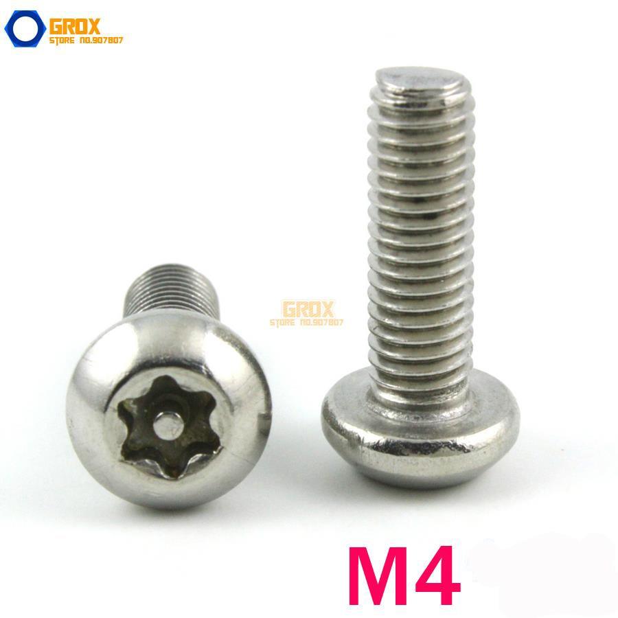 M4 304 Stainless Steel Security Torx Button Head Machine Screw