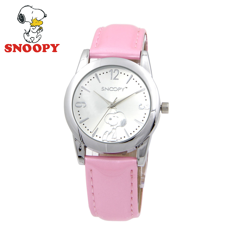 Snoopy Kids Watch Children Watch Casual Fashion Cute Quartz Wristwatches Girls Waterproof Leather clock disney kids watch children watch rhinestone fashion minnie leather strap cute quartz wristwatches girls waterproof clock