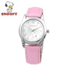 2017 Snoopy Kids Watch Children Watch Casual Fashion Cute Quartz Wristwatches Girls Waterproof Leather clock