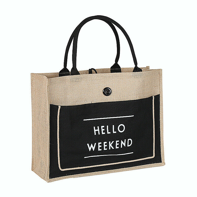 New Linen Women's Shopping Bag Fashion Casual Large Capacity Folding Tote Bag Multi-function Durable Handbag