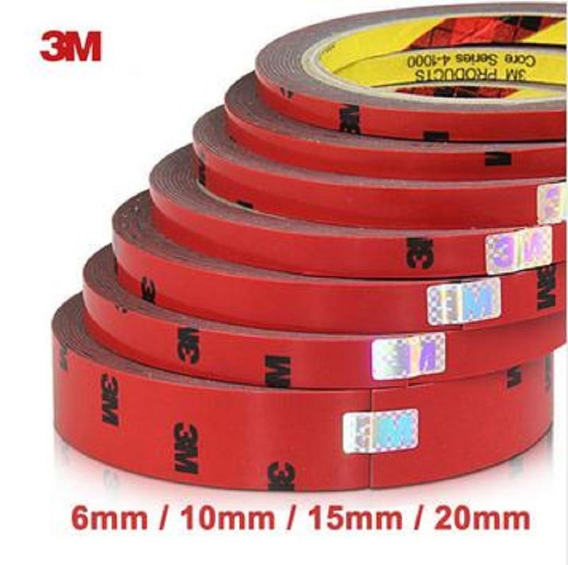 3 м двусторонняя акриловая пена двухсторонней клейкой ленты 6/10/15/20 Вт, 30 Вт, 40 мм авто специальный спонж клей наклейки на авто-Стайлинг