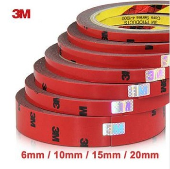 3M Double Faced Acrylic Foam Adhesive Double Sided Tape 6/10/15/20/30/40mm Auto Special Sponge Puff glue car decals car-styling 3m 6 8 10 15 20mm double side tape sticky office decoration supplies adhesive car screen repair accessories