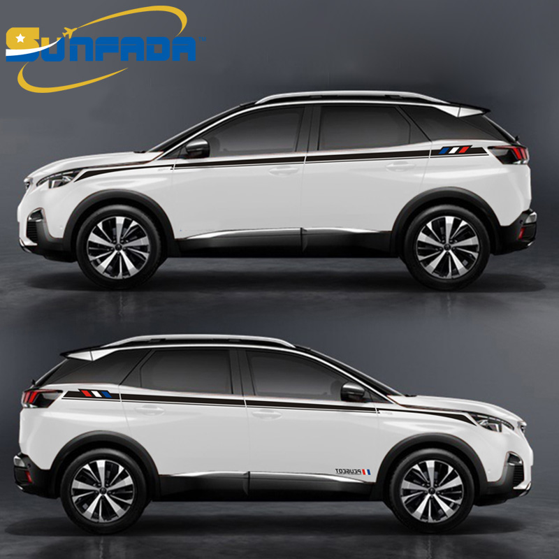 hot sale sport style car body decal car stickers for peugeot 3008 3008gt 2016 2017 4008 5008. Black Bedroom Furniture Sets. Home Design Ideas