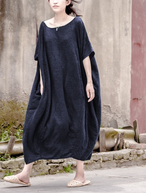 f3c72b6e035 Harajuku Japanese Mori Girl Vintage Linen Dress Women Loose Plus Size  Casual Dress Ropa Mujer Robe Fenne Courte Tunique Clothing