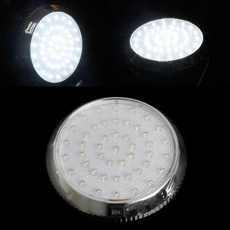 רכב רכב 12V 46-LED פנים מקורה גג תקרת כיפת אור לבן מנורת פנים אורות חדש