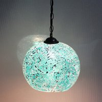Tradtional 20cm Glass Spliced Iron Chain Pendant Light Free Shipping Hallway Pendant Light Living Room Bedroom