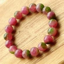 Natural watermelon Chalcedony Bracelet Look like Tourmaline Rockcrystal Pink gift girlfriend accessories wholesale xigua01