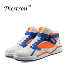 Man Skateboarding Shoes Autumn Winter Mens High Top Sneakers White Blue Walking Male Sneakers Rubber Bottom Athletic Shoes недорого