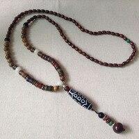 Tibet Ethnic Style Natural 21 Eyed Dzi Beads Charm Pendant mantras amulet Dzi Wenge Beads Necklace Fashion for Men and Women