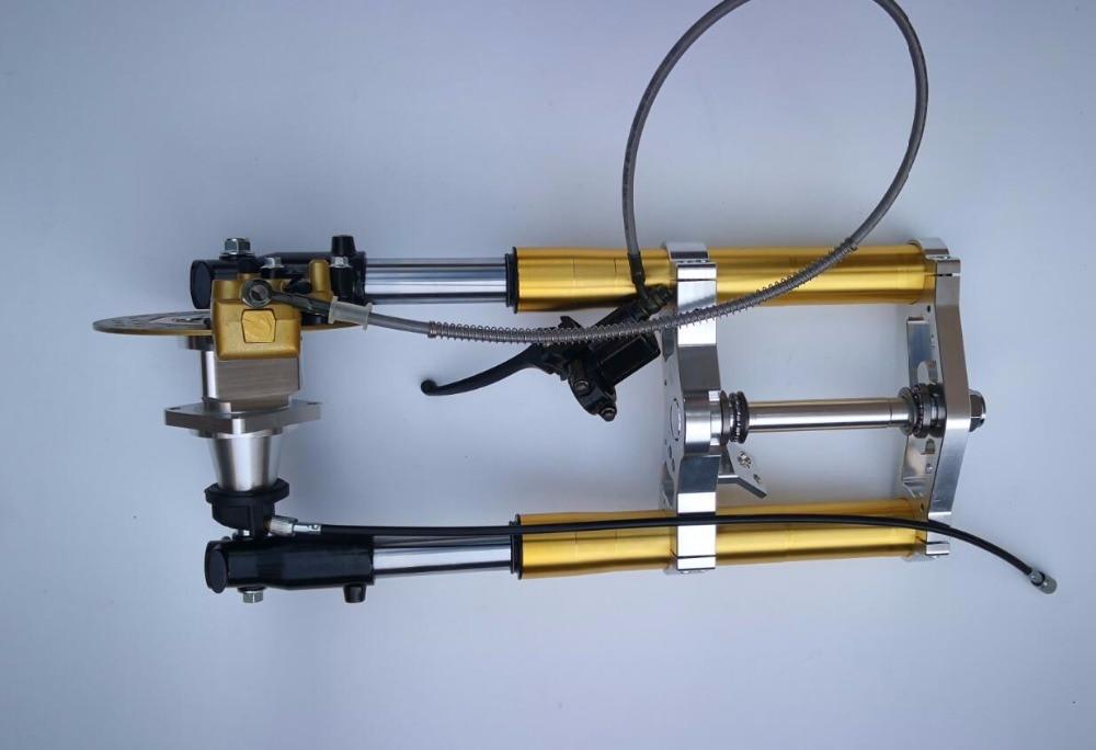 Nouvelle Version CNC moyeu haut fourche avant pour singe fourche longueur 540mm or argent