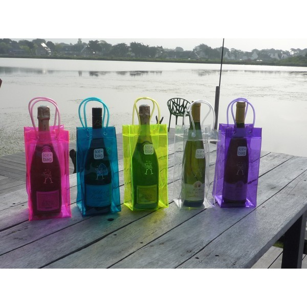 Best Quality Wine Bottle Chiller Chill Cooler Pvc Ice Bag