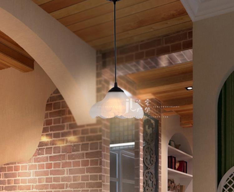 A eetkamer bar kroonluchter enkele kop tafellamp creatieve