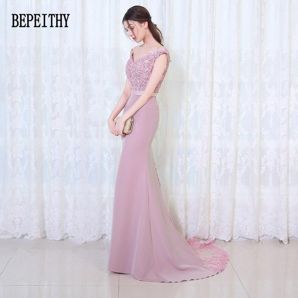 BEPEITHY Vestido De Festa Longo Mermaid Bridesmaid suknelės Grindų - Suknelės vestuvėms - Nuotrauka 3