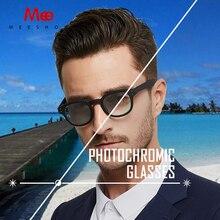 MEESHOW Photochromic Glasses Blue Light Blocking women men sunglases myopia optical frame reading glasses round eyewear