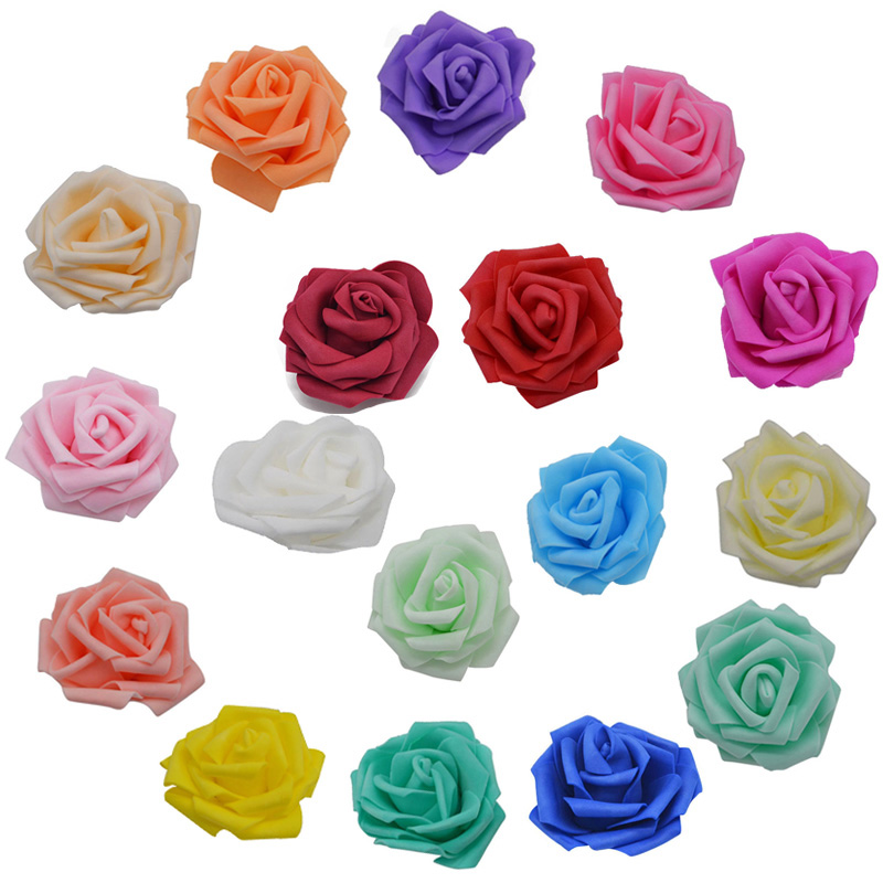 10Pcs 8cm Big PE Foam Rose Artificial Flower Head Multi-Use For Wedding Party Decorations Home DIY Wreaths Craft Gift Supplies