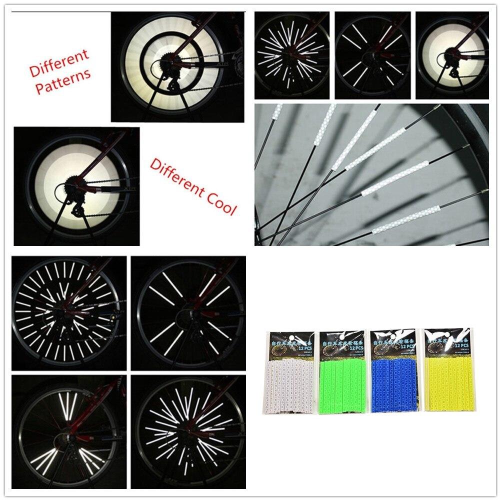 12Pcs Bike Bicycle Wheel Spoke Reflector Reflective Mount Clip Tube US