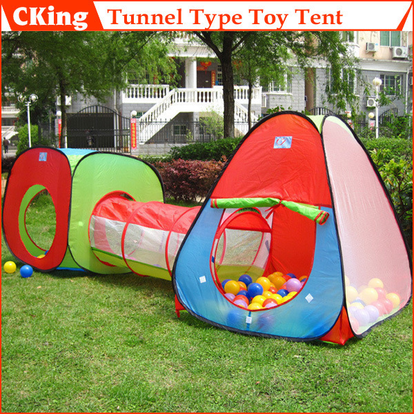 1 Ser Foldable Children Outdoor Toys House Portable Tunnel Type Toy Tent For Kids Novetly Gift Baby Free Shipping