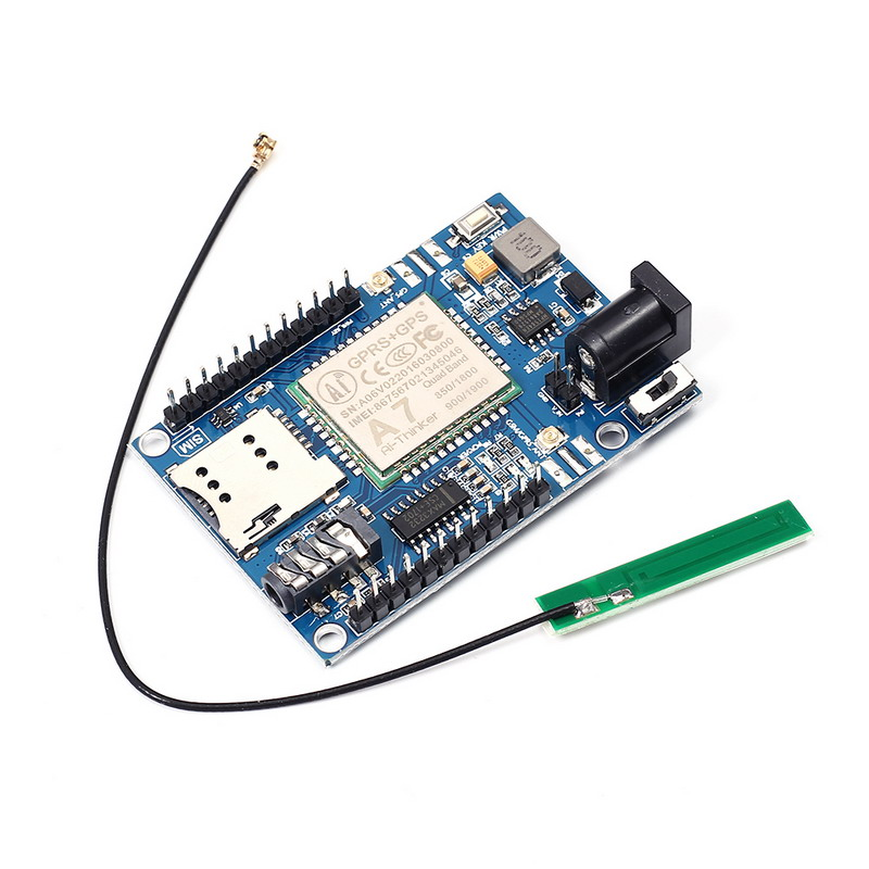 Sans fil Module A7 GSM GPRS GPS 3 En 1 Module Bouclier DC 5-9 V pour Arduino STM32 51MCU Support Voice Court Message Universel