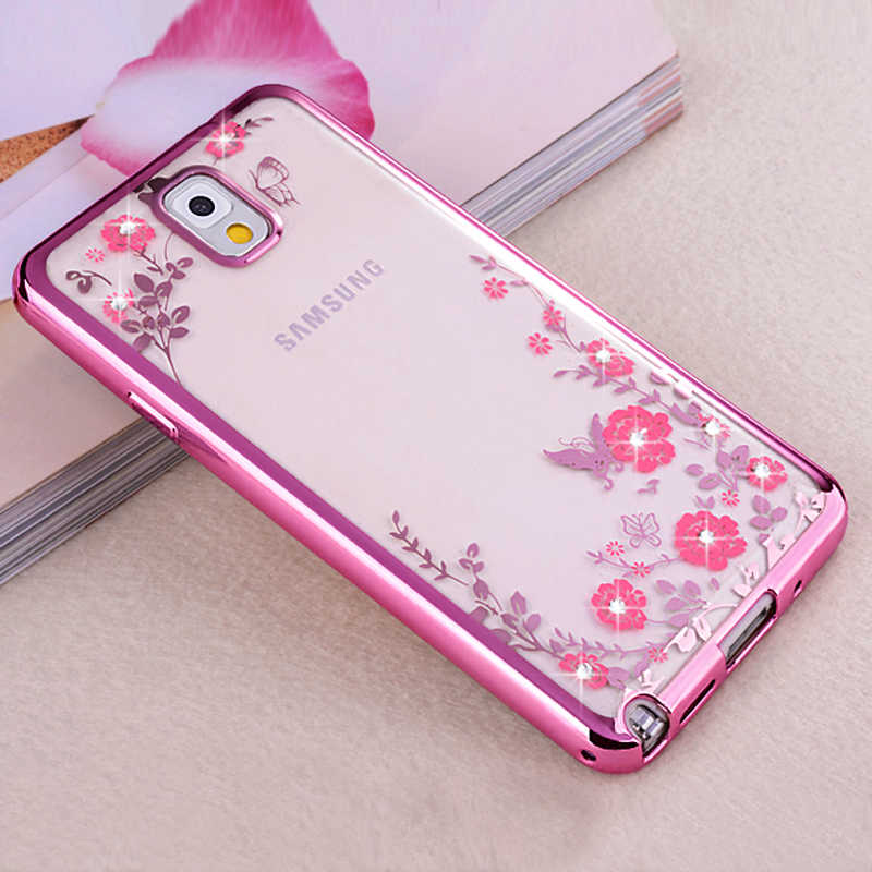 YueTuo etui de coque de cubierta funda para Samsung Galaxy Note 3 Note 3 fundas de teléfono transparentes trasera suave 3d accesorios de silicona