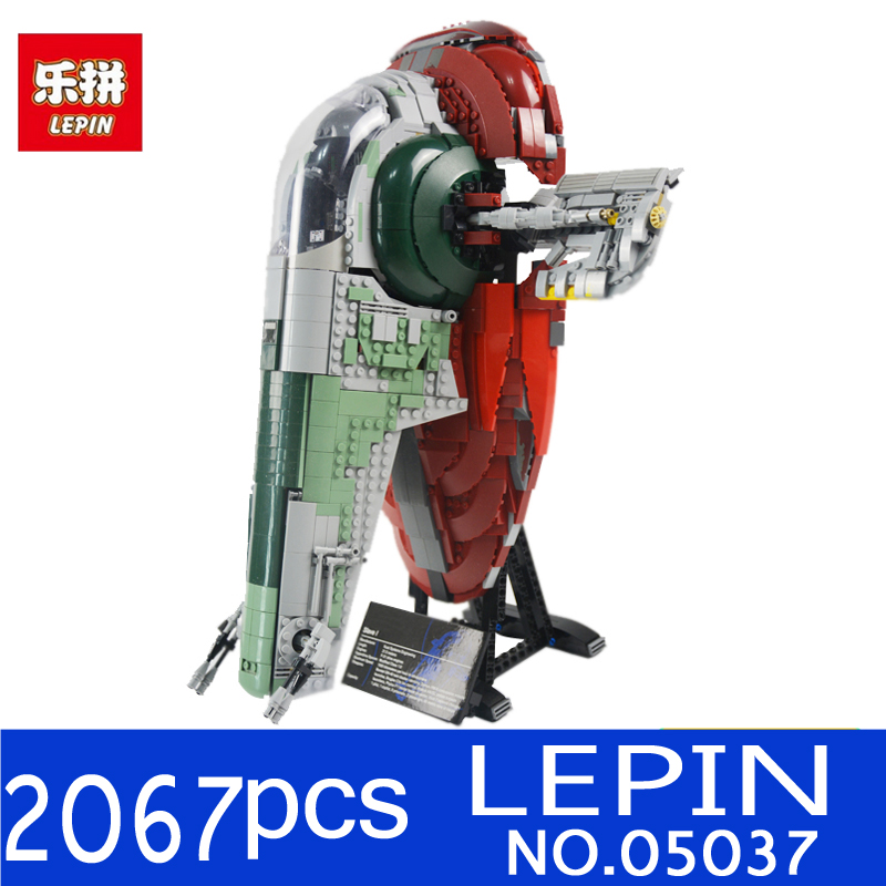 New LEPIN 05037 2067pcs 05039 Star UCS Wars Slave NO.1 Model Building Blocks Bricks Kits Compatible 75060 Children Moc Toys Gift дизайнерская ваза на подставке 20 10 40 см glory design